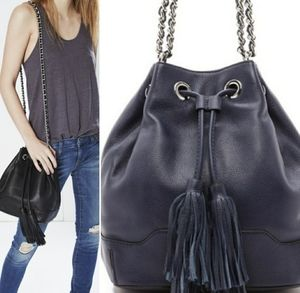 $375. Rebecca Minkoff Blue Lexi Bucket Bag.